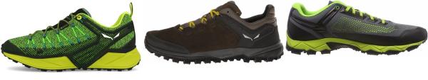 buy green salewa hiking shoes for men and women