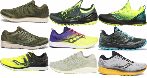 buy green saucony running shoes for men and women