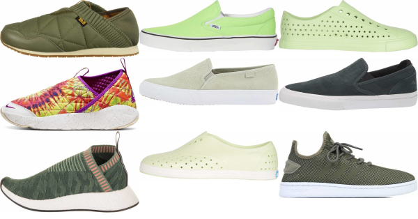 buy green slip-on sneakers for men and women