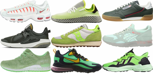 buy green sneakers for men and women