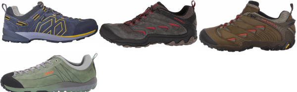 buy green suede hiking shoes for men and women