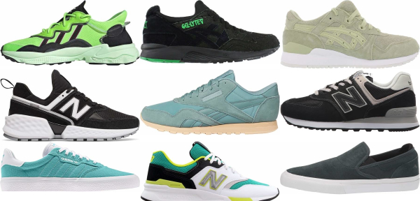 buy green suede sneakers for men and women