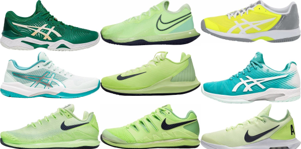 buy green tennis shoes for men and women