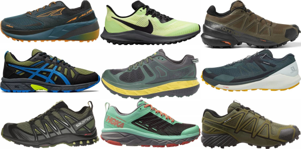 buy green trail running shoes for men and women