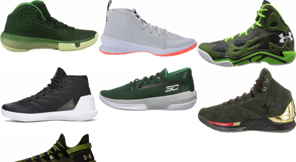 buy green under armour basketball shoes for men and women