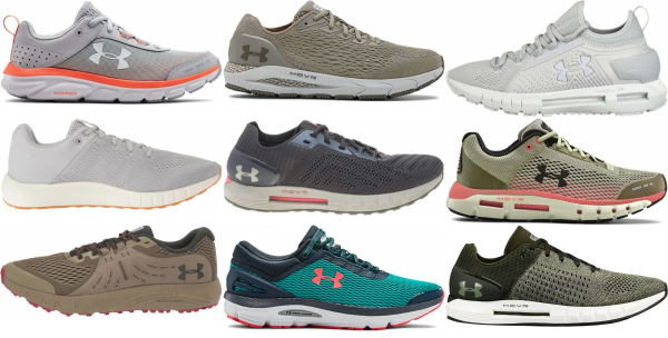 buy green under armour running shoes for men and women
