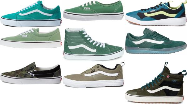 buy green vans sneakers for men and women