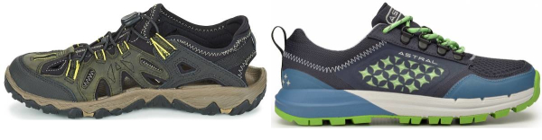 buy green water repellent hiking shoes for men and women