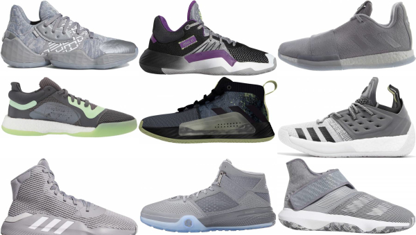buy grey adidas basketball shoes for men and women