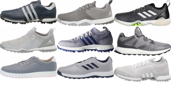 buy grey adidas golf shoes for men and women