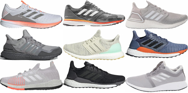 buy grey adidas running shoes for men and women