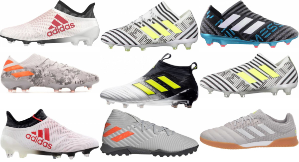 buy grey adidas soccer cleats for men and women