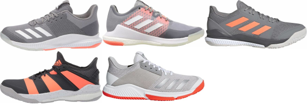buy grey adidas volleyball shoes for men and women