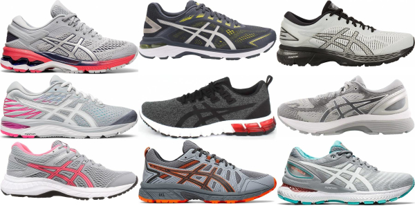 buy grey asics running shoes for men and women