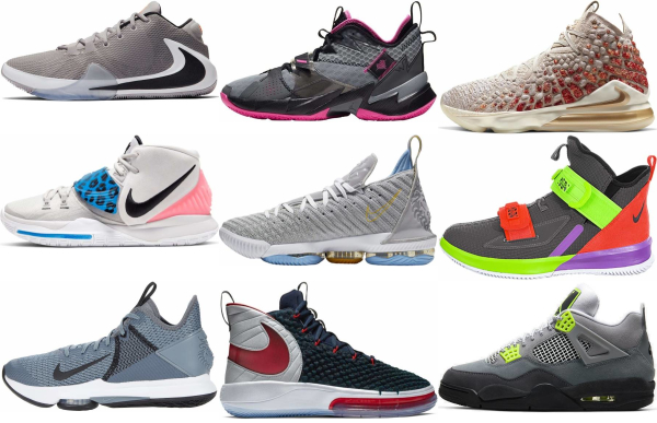 buy grey basketball shoes for men and women