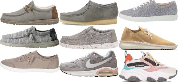 buy grey casual sneakers for men and women