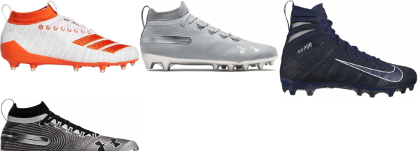 buy grey football cleats for men and women
