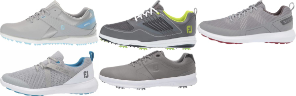 buy grey footjoy golf shoes for men and women