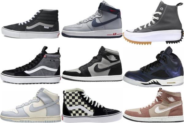 buy grey high top sneakers for men and women