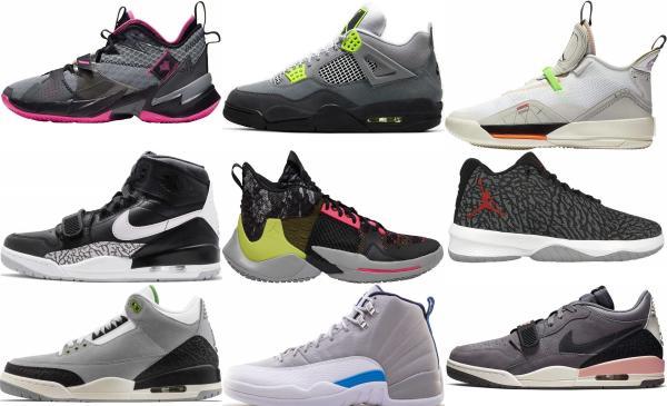 buy grey jordan basketball shoes for men and women