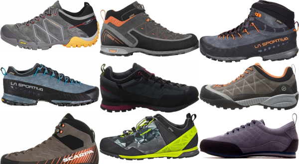 buy grey leather approach shoes for men and women