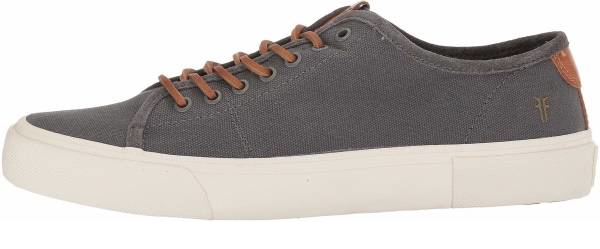 buy grey leather lace sneakers for men and women