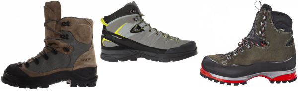 buy grey leather mountaineering boots for men and women