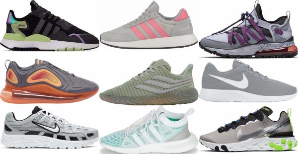 buy grey mesh sneakers for men and women