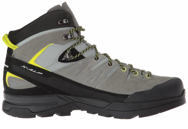 buy grey mid cut mountaineering boots for men and women
