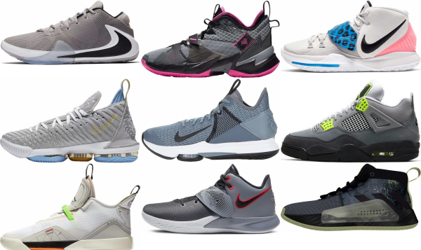 buy grey mid basketball shoes for men and women