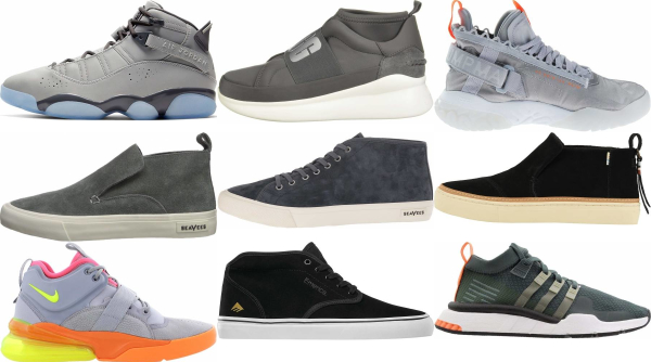 buy grey mid top sneakers for men and women