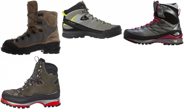 buy grey mountaineering boots for men and women