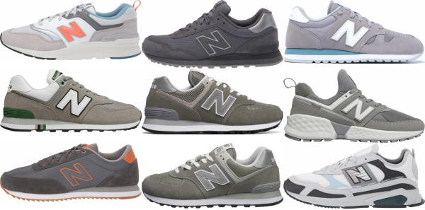 buy grey new balance sneakers for men and women
