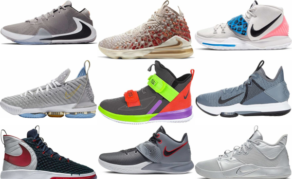 buy grey nike basketball shoes for men and women