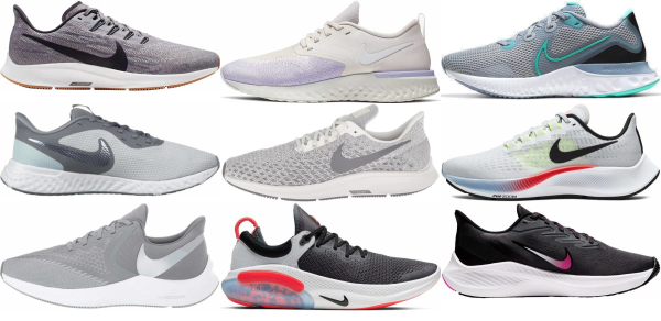 buy grey nike running shoes for men and women
