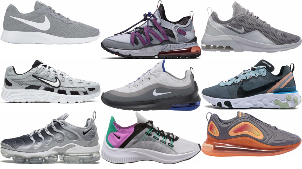 buy grey nike sneakers for men and women