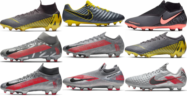 buy grey nike soccer cleats for men and women