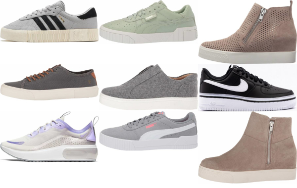 buy grey platform sneakers for men and women