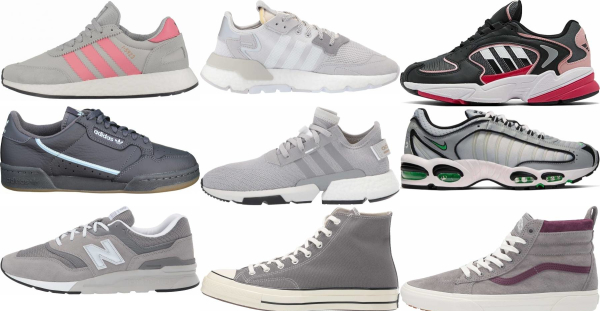 buy grey retro sneakers for men and women