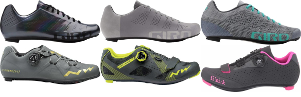 buy grey road cycling shoes for men and women