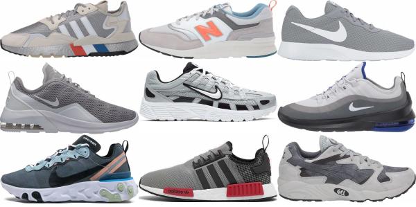 buy grey running sneakers for men and women