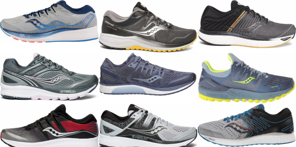 buy grey saucony running shoes for men and women