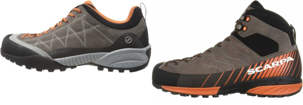 buy grey scarpa approach shoes for men and women