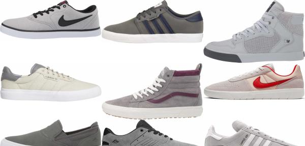 buy grey skate sneakers for men and women
