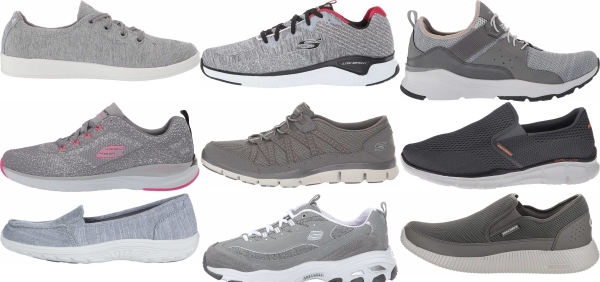 buy grey skechers sneakers for men and women