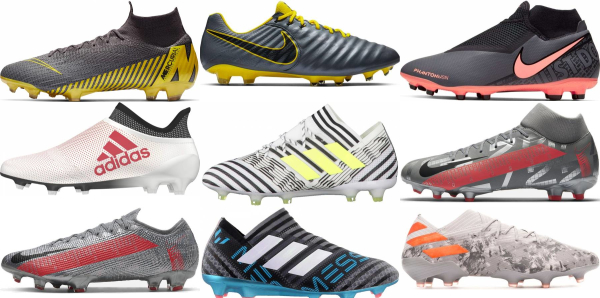 buy grey soccer cleats for men and women