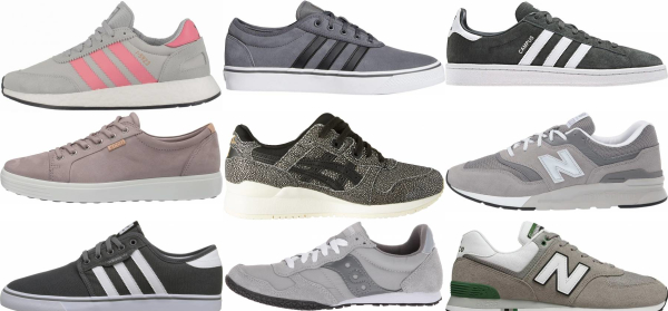 buy grey suede sneakers for men and women