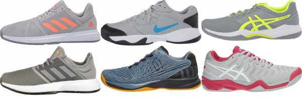 buy grey synthetic upper tennis shoes for men and women