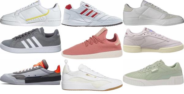 buy grey tennis sneakers for men and women