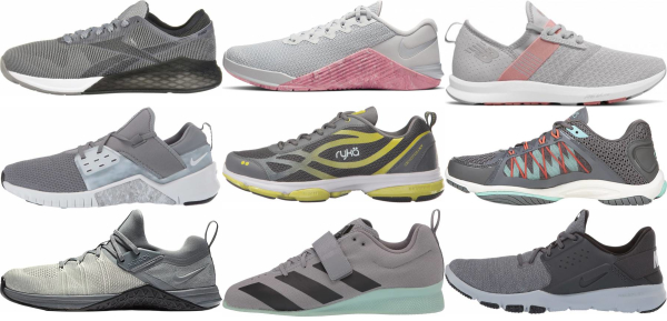 buy grey training shoes for men and women